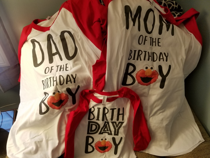 Theses Shirts Are Perfect For Tommys Elmo Themed 2nd Birthday Party Yes I Am Most Likely More Excited Than He Is
